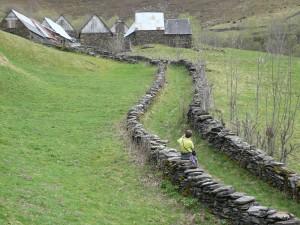 Les granges Bertrand en hiver (hameau de l'Aspe)