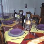 la table d'hôtes chez véronique et Michel, maison du Rabada à Sentein