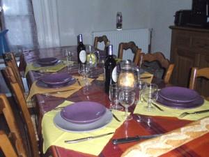 la table d'hôtes à partager avec Véronique et Michel